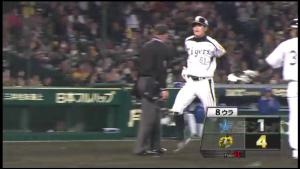 阪神田上2塁からホームイン