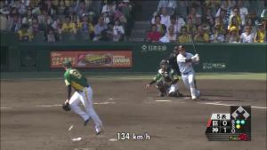 メッセンジャーの足を打球直撃