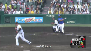 9表メッセンジャー最後の打者三振