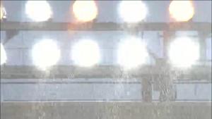 雨が強くなる甲子園 8月3日