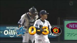 横浜の捕手が六甲颪を歌う