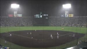 8月29日 雨で中断 甲子園