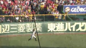 柴田が打球処理