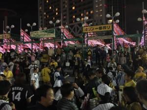 阪神CS優勝 東京ドーム外周